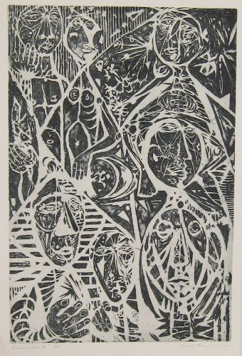 "WENDELL H. BLACK ""DESCENT INTO HELL III"" ETCHING 1970"