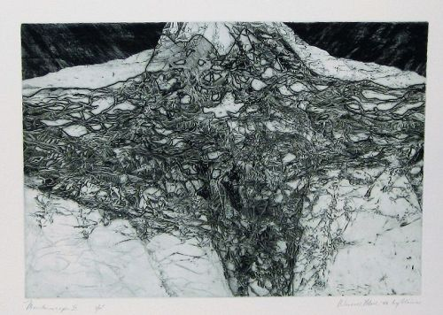 "WENDELL H. BLACK ""MOUNTAINSCAPE II"" ENGRAVING 1956"