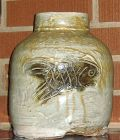 KIRK MANGUS LARGE FISH POT CIRCA 1989