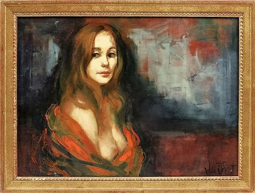 "JAN DE RUTH ""PORTRAIT OF JEAN"" ORIGINAL OIL ON CANVAS"