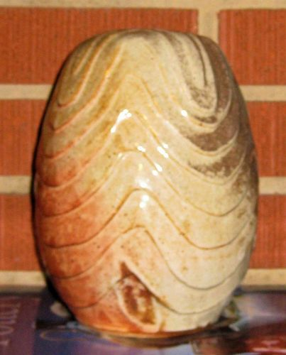 BEN OWEN III SALT FIRED CARVED POTTERY VASE 1996
