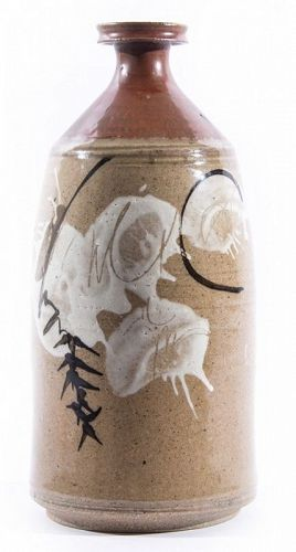 CYNTHIA BRINGLE CERAMIC VASE-BOTTLE, CIRCA 1980S