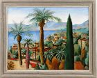 "EDGAR YAEGER ""NICE, FRANCE"" LARGE MCM OIL ON CANVAS"