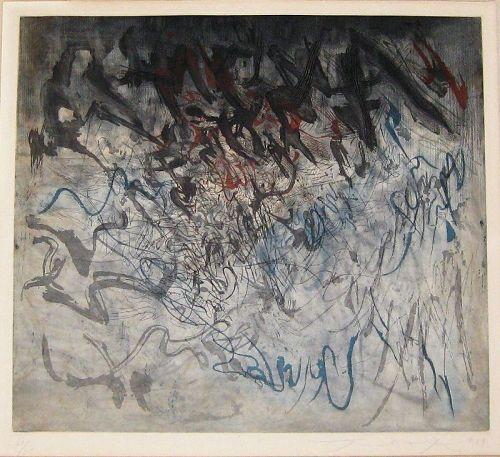 "ZAO WOU-KI ""SANS TITRE"" ORIGINAL ETCHING/AQUATINT 1959"