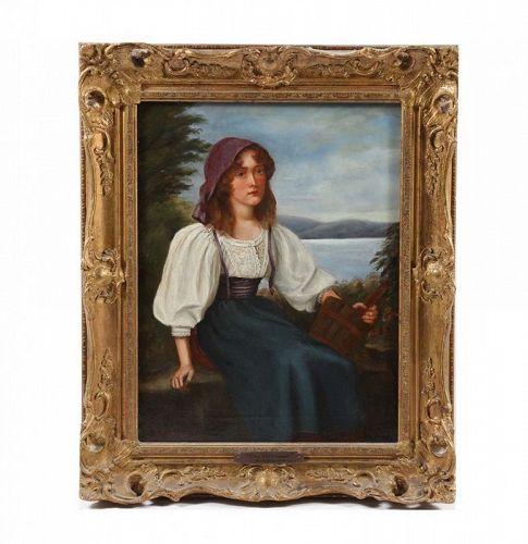 "ARTHUR LONGLEY VERNON ""THE MILK MAID"" CIRCA 1880-1890"