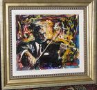 "EDMUND YAGHJIAN ""VIOLONIST"" 1967 ORIGINAL PAINTING ON PANEL"