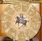 KASHAN LUSTERWARE BOWL WITH HORSEMAN.