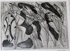 "DOLF RIESER ""DANSE DES GUERRIERS CAFFRES"" ETCHING AND ENGRAVING"