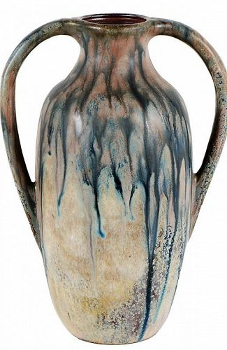 CARLOS DELSAUX LARGE TWO HANDLE VASE CIRCA 1930