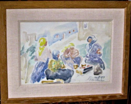 RIKA SCHWIMER ORIGINAL WATERCOLOR MCM