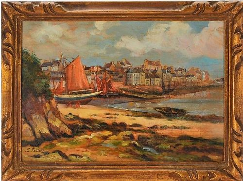 "GASTON POTTIER ""LE PORT DE DOUARNENEZ"""