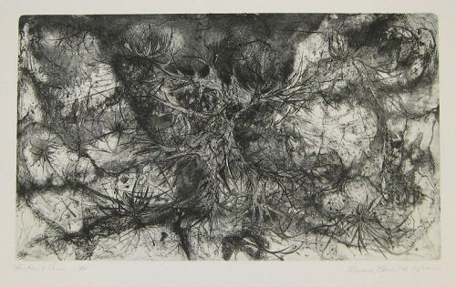 "WENDELL H. BLACK ""THISTLES AND VINES""   ORIGINAL INTAGLIO"