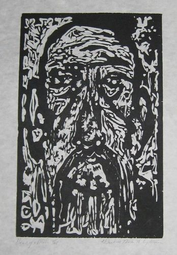"WENDELL BLACK ""HEAD OF MAN"" ORIGINAL WOODCUT"