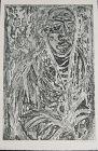 """WENDELL H. BLACK """"SELF-PORTRAIT 1961"""" ORIGINAL ETCHING"""