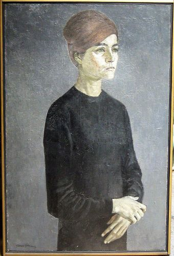 FRANCISCO GARCIA GOMEZ OIL PAINTING ON CANVAS 1963