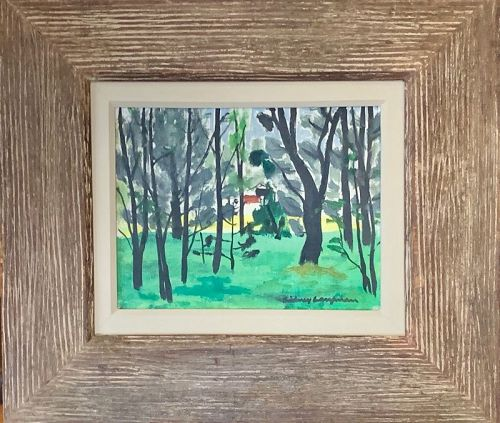 """SIDNEY LAUFMAN """"GROUP OF TREES"""" RUDOLPH GALLERIES"""