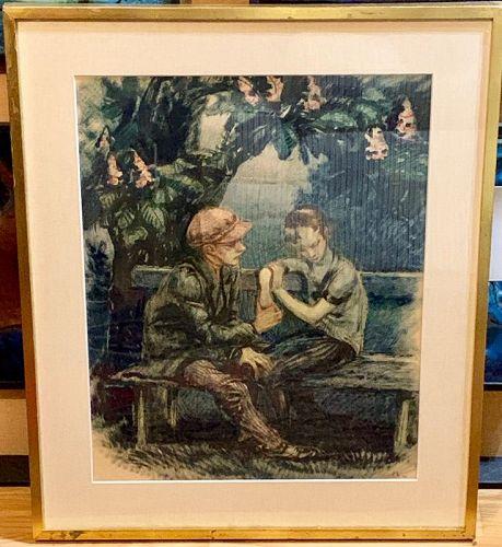 """MARGARETE SCHNEIDER-REICHEL """"DIE LIEBENDEN"""" 1924"""