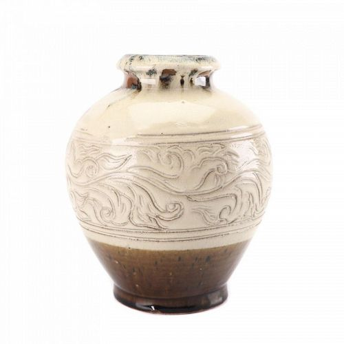 SAKUMA TOTARO MASHIKO IRON GLAZED JAR CIRCA 1950S