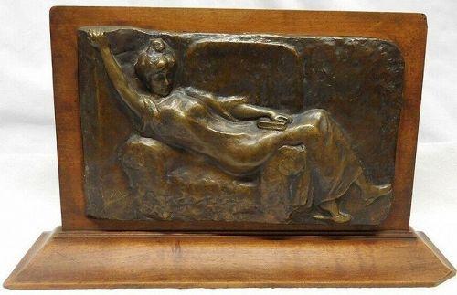 ELYSEE CAVAILLON BRONZE BAS RELIEF 1903