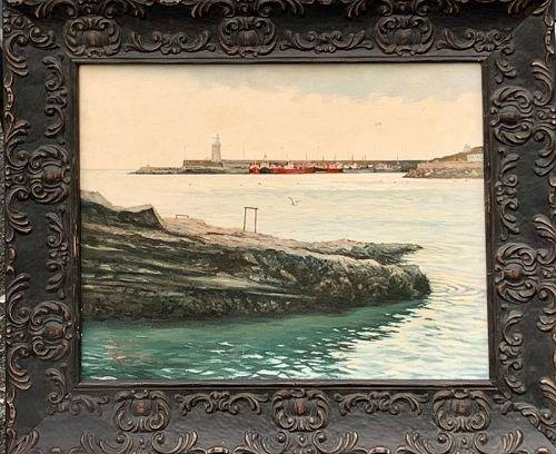 RODNEY J. K. CHARMAN NANTUCKET LIGHT HOUSE OIL ON CANVAS 1980