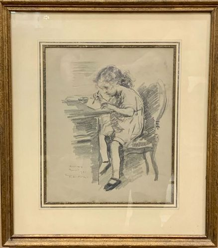 "FRANCIS LUIS MORA ""ROSEMARY"" ORIGINAL DRAWING"
