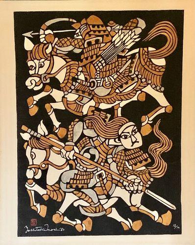 YOSHITOSHI MORI ORIGINAL KAPPAZURI SAMURAI ON HORSEBACK