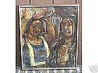 """Maurice Becker, """"Two native women"""""""