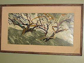 ARNOLD MESCHES, Acrylic on panel, 1959