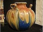 Large Gilbert Metenier three handle vase or bowl