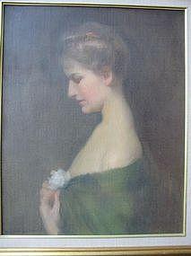 Wilton Lockwood, Portrait with Peony