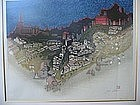 "JUN'ICHIRO SEKINO ""CITY OF TOLEDO"" ORIGINAL WOODBLOCK"