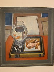 "Max Heimann, ""Still life with gold fish"""