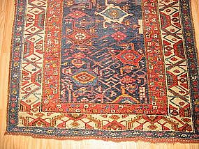 Antique Kurdish Long Rug, Bidjar, circa 1910