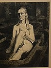 Fred Berger, Chicago, Nude Charcoal.