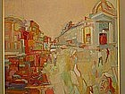 "Anthony Toney, ""Main Street"", Original oil painting"