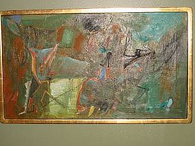 Jack Wolfe, Untitled Abstract Oil Painting/Canvas, 1961