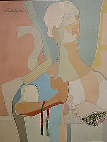 """LORAN A.D. MONTGOMERY, """"Woman with a Ribbon"""""""