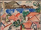 Henry Kallem, Original Watercolor, Untitled