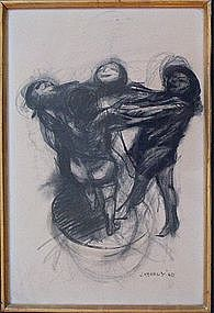 James Joseph Kearns, Untitled Charcoal