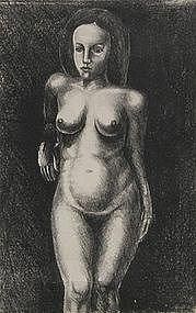 Julius Pommer, Untitled Nude Lithograph, circa 1930