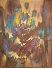 "J. Bardin, ""Moonrise Dunes"", circa 1970"