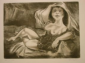"William Gropper, ""Duchess"", original etching"