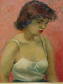 """Marianne Brody Gaston, """"Portrait of a young woman"""""""
