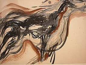 "Wendell H. Black, ""Dead Deer At Neskowin"", 1957"