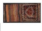 Fine Qashqai Complete Bag, Striped Kilim