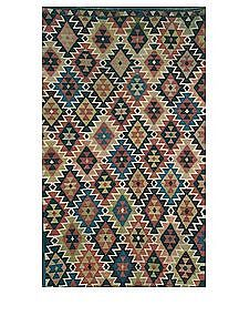 Antique Kuba Kilim, Circa 1890