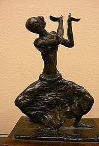 "Ruth Lee Leventhal, Bronze Sculpture, ""The Dancer"""