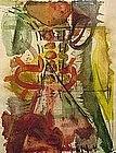 """David Authier, """"Sayre #62"""", Original Watercolor"""
