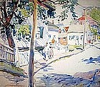 MONTAGUE CHARMAN, STREET IN NEW ENGLAND