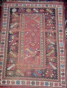 Antique Melaz (Melez, Milas) Prayer Rug, 19th Century